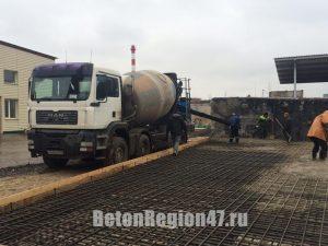 Поставка бетона М350 для строительства ангара в г. Гатчина